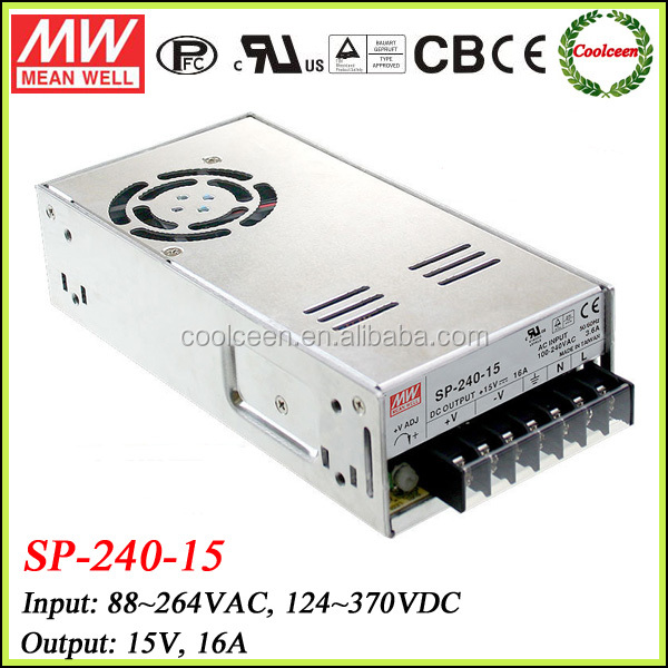 Meanwell SP-240-15 240W enclosed switching power supply 15V 16A