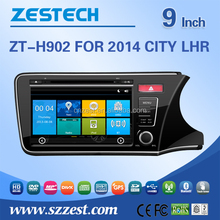 Factory direct sale 9 inch car dvd player for Honda city 2014 rhd car gps navigation system car audio system with 3G Mp3 player