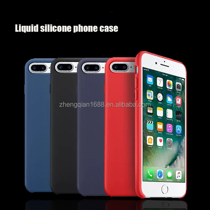 Factory wholesale liquid silicone phone case for Iphone8/7/6/6s 5 plus colorful antifouling back cover cases for Iphone X