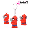 Promotion Led key ring 3D spider-man PVC keychain