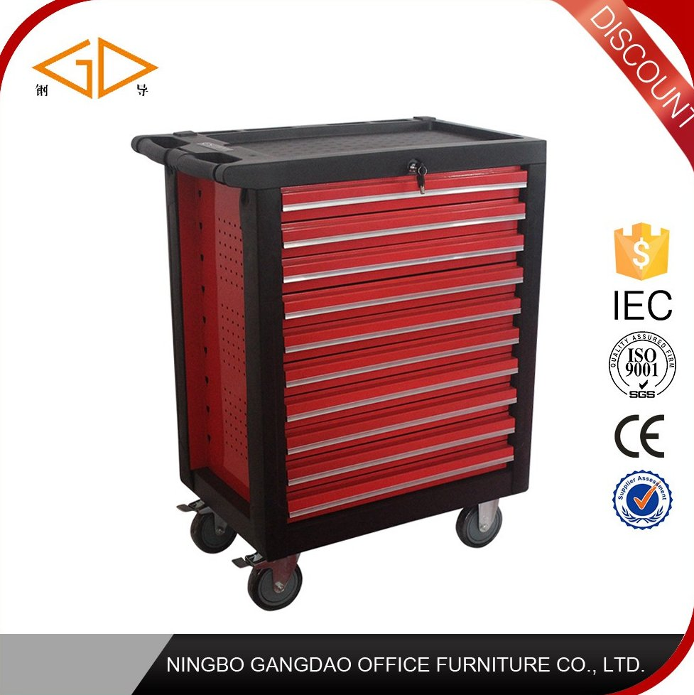 Factory Direct sale steel tool box roller cabinet with 10 drawers