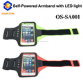 Hot selling! Waterproof sport armband with LED Light,no battery