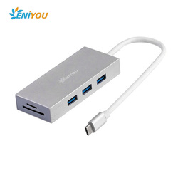 Type-C Adapter HUB,USB 3.1 Type C Hub Combo for New MacBook with SD/MicroSD Card Reader