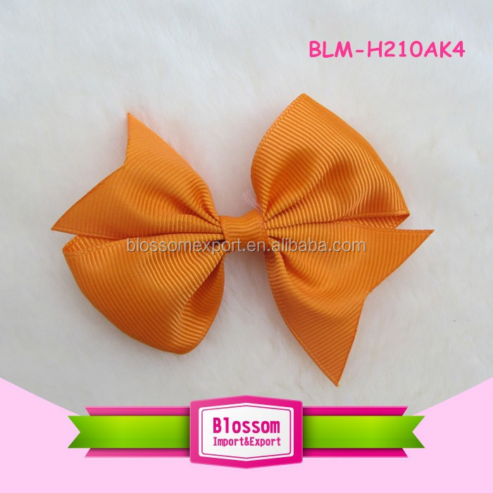 Hair Bow Ribbon Bow Hair Clip solid color Boutique Grosgrain Bow