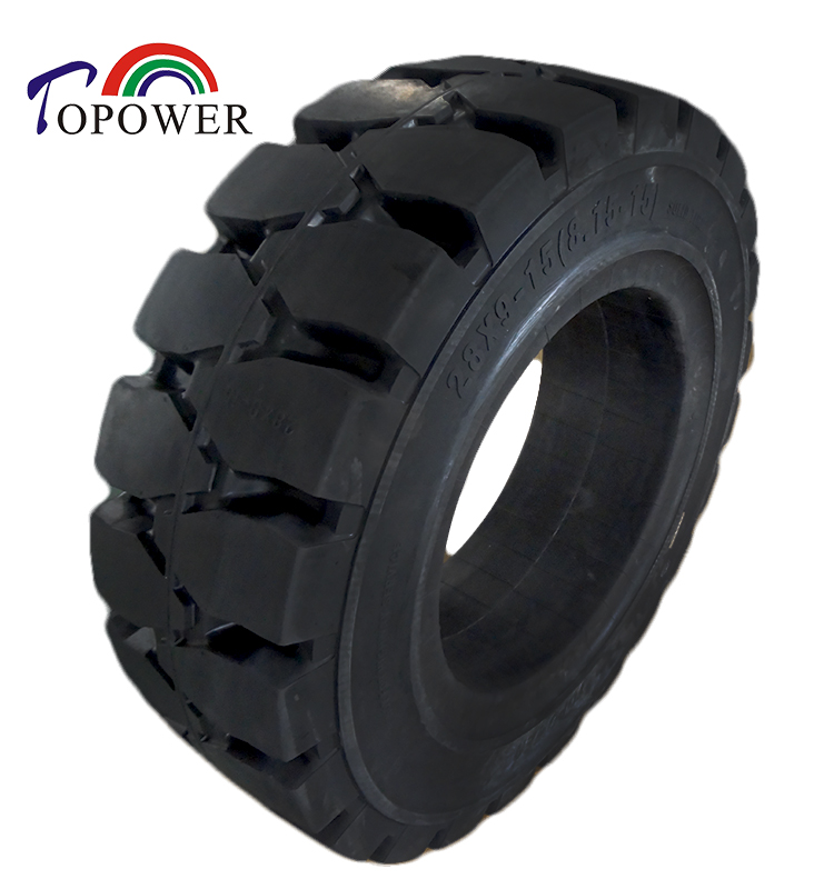 Solid <strong>tire</strong> for forklift, solid <strong>tire</strong> for loader truck 28x9-15 manufacturer