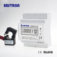 SDM72CT-DR three phase din rail kWh meter, CT operated digital electric meter measure energy and power