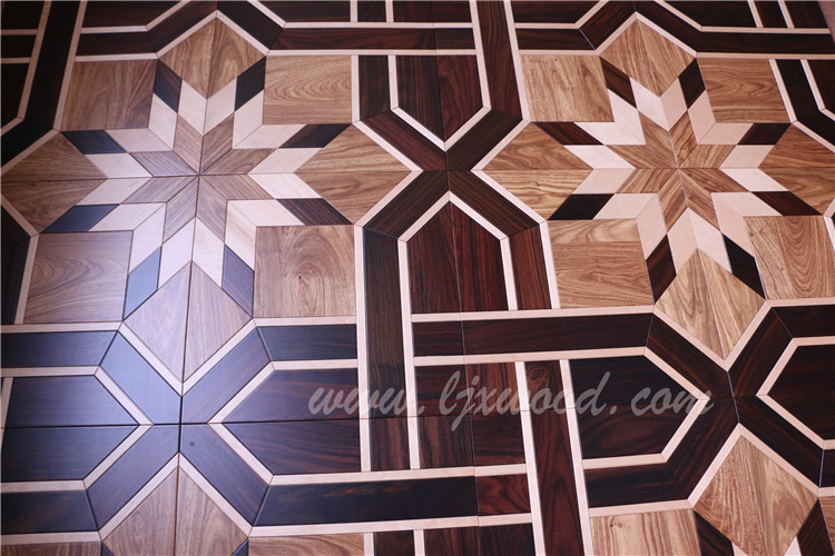Luxury art parquet Engineered wood flooring rosewood kosso maple