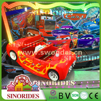 Family entertainment center red flying car amusement ride cars