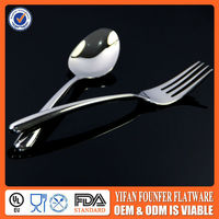 Dining hall metal flatware/spork for Catering