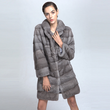 Hot Sale Luxury Woman Winter Genuine Mink Fur Cross Coat