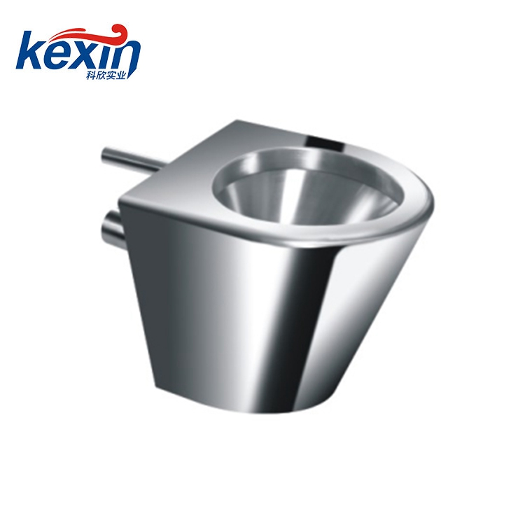 Off-Floor, Blowout Jet Stainless Steel Toilet for Front Mount