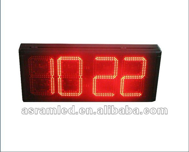 7 segment led digit clock display/ led countdown timers-waterproof, led clock and temperature display