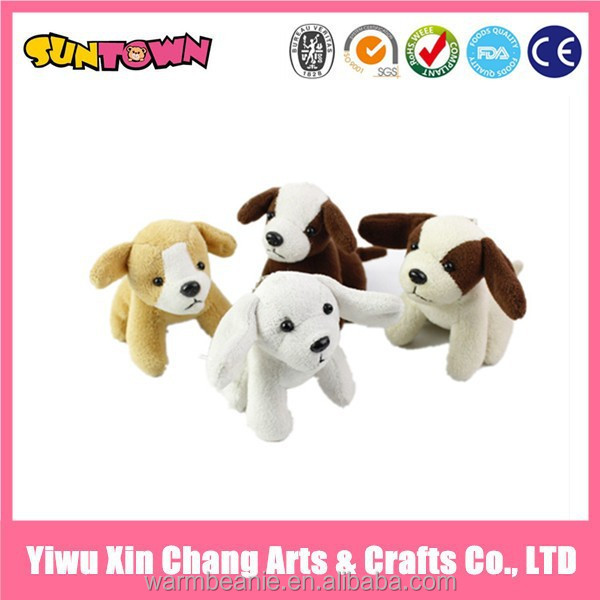 plush mini dog toy stuffed toy black and white dog