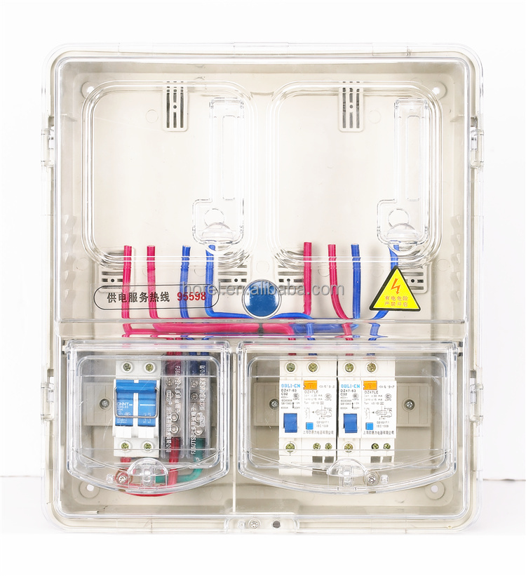 ABS and Poly Plastic Single Phase electric meter box