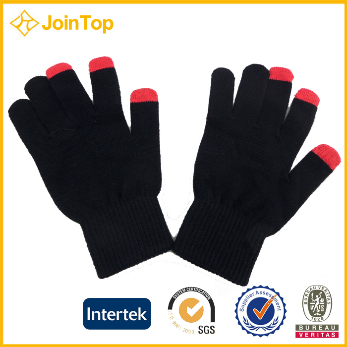 Jointop Durable Knitting Two Finger smartphone touch gloves