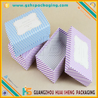 Custom quantity Special paper wrapped small square gift box