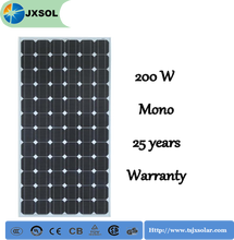 high efficiency celdas solares mono 200w solar panels for industrial use