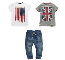 Taobao Cotton Boys T-shirt And Kids Jeans <strong>Children</strong> Boutique Clothing <strong>Set</strong>