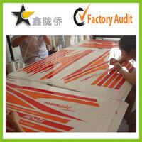 High Quality Custom Silk screen printing sticker with transparent background