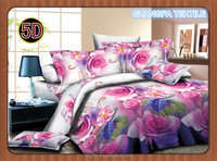 100% polyester microfiber fabric Popular bright flower colour 3d disperse design for bedding /quild cover/ bedsheet
