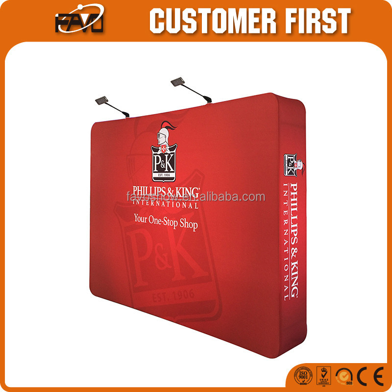 Fabric Aluminum Tube Trade <strong>Show</strong> Booth High Resolution Photo Backdrop