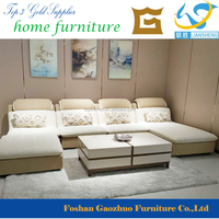 B269 Nice Design High Quality U shape Corner Sofa Set with Foot Stool