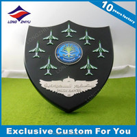 High quality custom wood shield trophy plaque religious