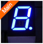low consumption! 0.4 inch blue 7 segment led display sign 1 digit