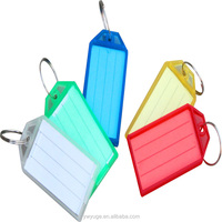 2015 year end promotion Plastic Photo Name Tag Holder Key tag Chain Keyring Colorful