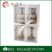Clear plastic boxes custom boxes for wine glass fancy decoration