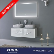 Commercial double sink bathroom vanity combo modern with bowl