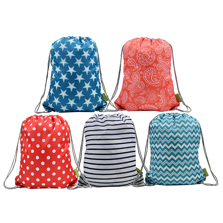 Factory supply customizable colors pull string backpack drawstring tote bag