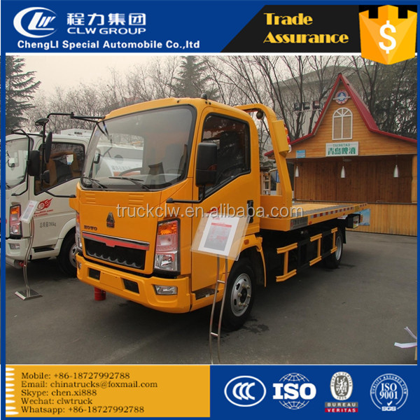 4tons 5tons wrecker tow truck flat road removal truck wrecker Breakdown Recovery vehicle