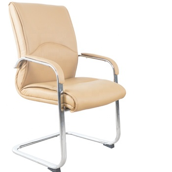 GUYOU GY-1864C Executive PU Leather Office Visitor Chair Without Wheels