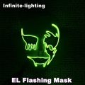 Led mask horror luminous EL wire Halloween cosplay death grimace masquerade masks