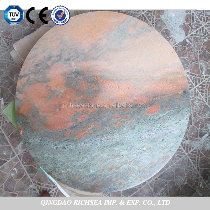 Chinese Credible Supplier An Evening Red Coffee Marble Table Tops