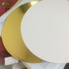 metalized golden foil paper and coated cake boards laminated