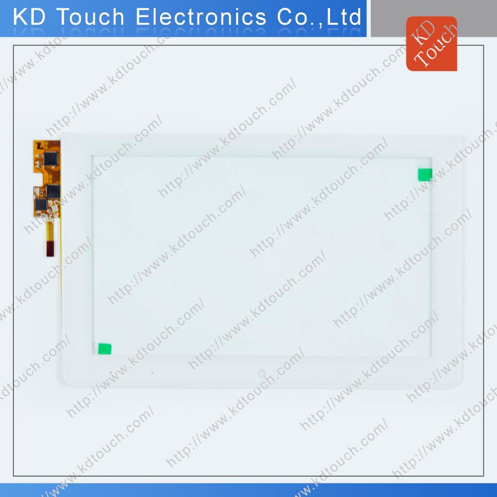 Customized 8inch multi capacitive touch screen panel with interface I2C