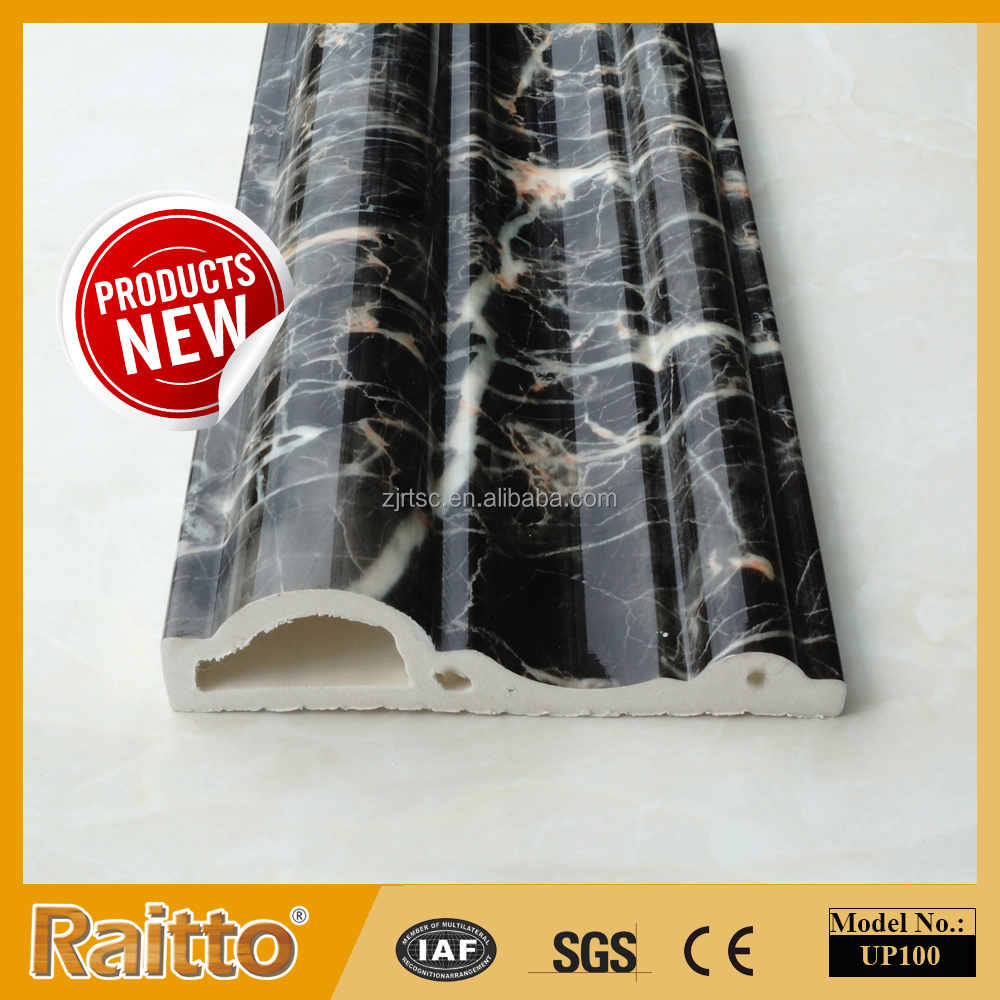 Marbling PVC Skirting Board PVC Door Jamb