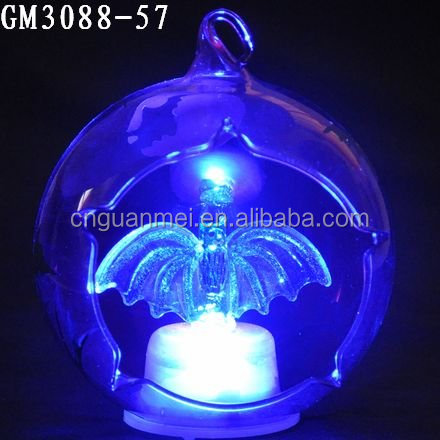 cheap led christmas ball with bat for decoration