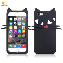 cartoon 3D cat soft silicone mobile phone case for iphone 6 6s,mobile phone accessories