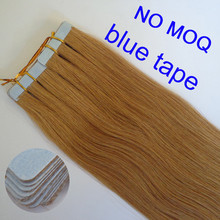strong blue tape hair, 22 inch #10 double drawn russian virgin remy tape hair extension