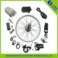 250W 1000 w rear and front electric bicycle motor wheel kit with throttle