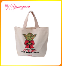 promotional 100% recyclable canvas bag printing for shopping