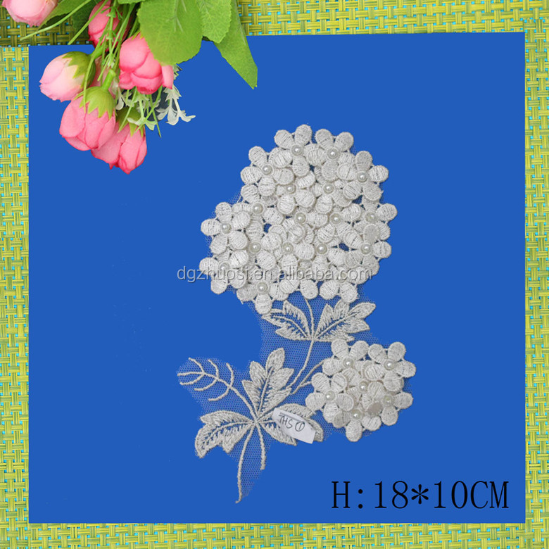 bridal embroidery applique rhinestone, wedding decoration supplies in guangzhou
