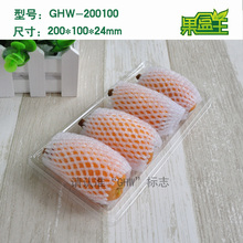 Rectangular disposable long rigid plastic mango fruit packaging tray