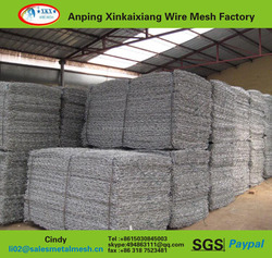 electric galvanized good quality hexagonal gabion wire mesh gabion stone cage rock falling mesh (China manufacturer)