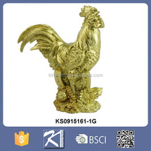 Home decoration for new year resin rooster 12 chinese zodiac animals