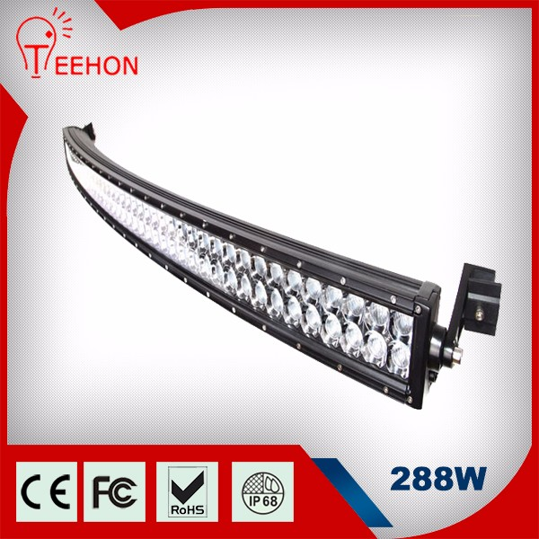 50 inch 288w 4x4 4wd led Driving Light bars Off Road 288w Curved LED Light Bar