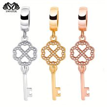 Jewelry Wholesale Rose Gold Key Tassel Charms
